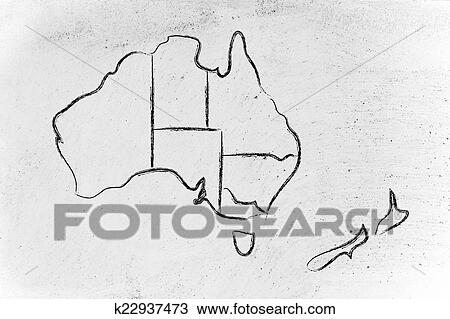 Drawing of world map and continents borders and states of australia drawing world map and continents borders and states of australia fotosearch search gumiabroncs Choice Image