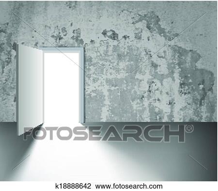 Clipart porte ouverte k18888642 recherchez des clip for Porte ouverte dessin