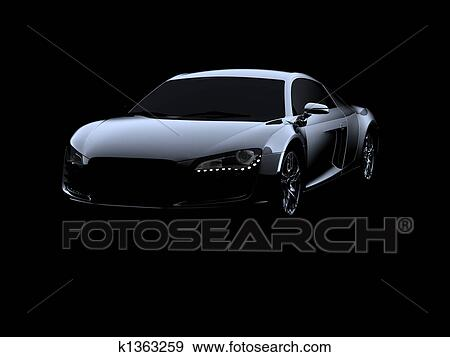 Exceptional Abstract Audi R8 On Black Background