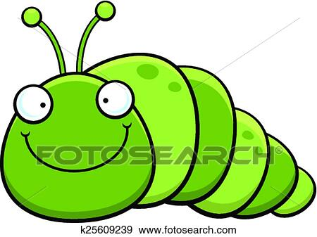 clip art of cartoon inch worm smiling k25609239 search clipart rh fotosearch com inchworm clipart free Bird with Worm Clip Art