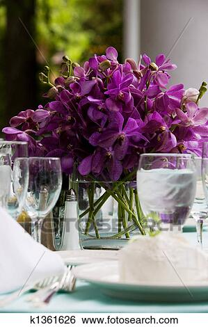 Stock Bilder Hochzeitstafel Deko K1361626 Suche