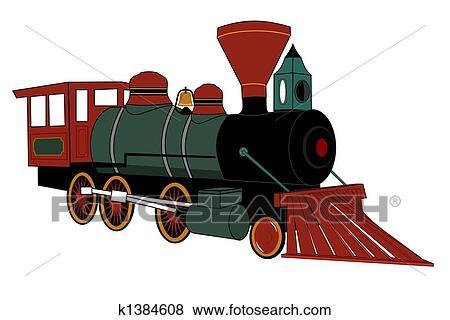 Stock Illustration of Steam locomotive k1384608 - Search ...