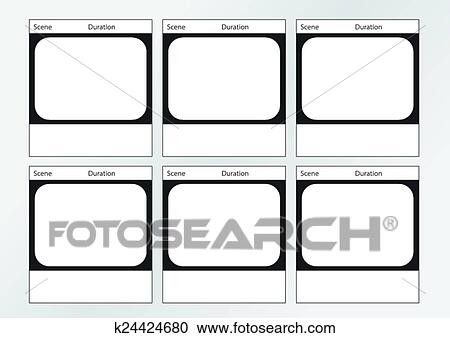 Clipart of tv commercial frame storyboard template x6 k24424680 clipart tv commercial frame storyboard template x6 fotosearch search clip art illustration saigontimesfo