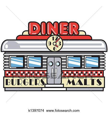 clipart of 1950s fifties diner clip art k1397074 search clip art rh fotosearch com diner clipart free american diner clipart