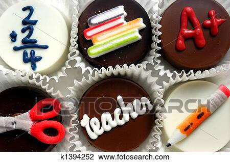 Stock Photo - Teacher cup cakes. Fotosearch - Search Stock Photography, Print Pictures, Images, and Photo Clip Art