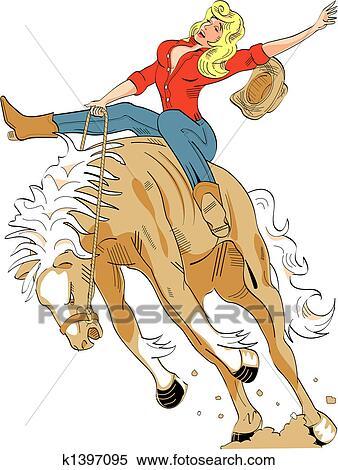 sexy cowgirl clip art