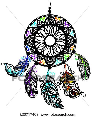 Clipart of dream catcher k20717403 search clip art for Dream catcher graphic