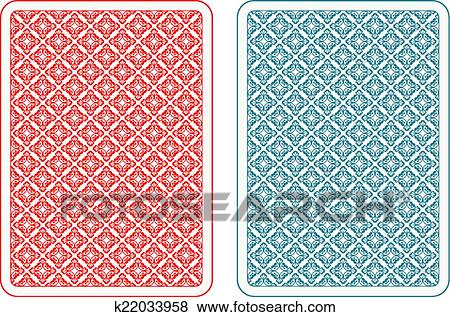 Clip Art of Playing cards back alfa k22033958 - Search ...