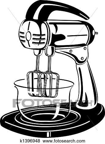 clip art of kitchen blender vintage clip art k1396948 search rh fotosearch com clip art kitchen tools clip art kitchen items