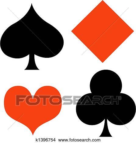 clipart of poker card gaming gambling clip art k1396754 search rh fotosearch com gambling clipart borders gambling chips clipart