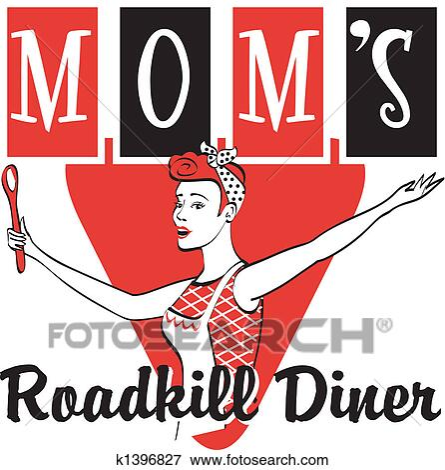Clip Art Of Retro Vintage Diner Restaurant Sign K1396827