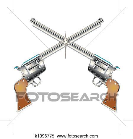 Clipart of six guns pistols western clip art k1396775 search clipart six guns pistols western clip art fotosearch search clip art illustration voltagebd Choice Image