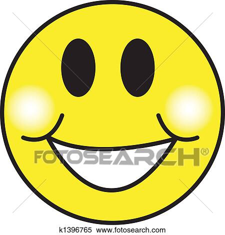 clipart of smiley happy face clip art k1396765 search clip art rh fotosearch com clipart of smiley faces free free clipart of smiley face