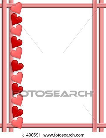 Clipart - Valentines Day Hearts border. Fotosearch - Search Clip Art ...