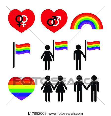 clip art of gay and lesbian couples rainbow k17592009 search rh fotosearch com clipart gay couple gay clipart free