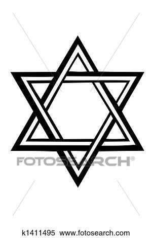 stock illustration of star of david k1411495 search clipart rh fotosearch com Star of David Clip Art Black and White Star of David Printable