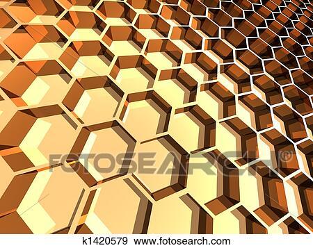 Stock Illustration Of Honeycomb K1420579