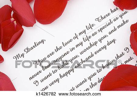 Stock Photo Of Romantic Love Letter. K1426782 - Search Stock