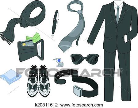 Kleiderständer clipart  Clipart of Men's Fashion Elements k20811612 - Search Clip Art ...