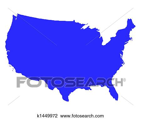 Clip Art Of United States Of America Outline Map K Search - Large image map of us vector