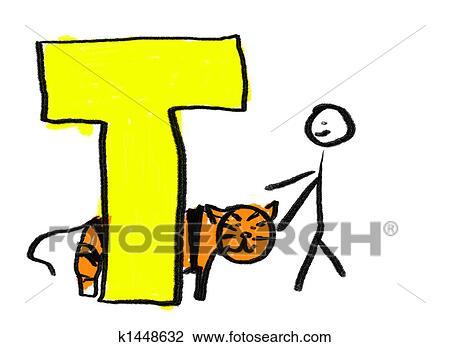 clip art of letter t k1448632 search clipart illustration posters rh fotosearch com Decorative Letter T letter t clipart free