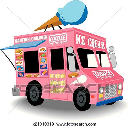 clipart glace  camion k21010319 recherchez des Une Crepe Une Glace a La Vanille AU Chocolat