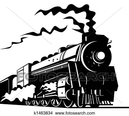 Drawings of Steam train k1463834 - Search Clip Art ...