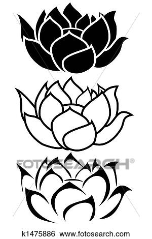 Lotus flower Illustrations and Clipart. 2,059 lotus flower royalty ...