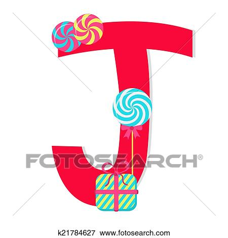 clip art of letter j from candy alphabet k21784627 search rh fotosearch com Letter S Clip Art decorative letter j clipart