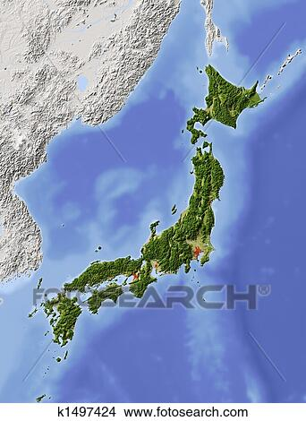 Drawings Of Japan Shaded Relief Map K Search Clip Art - Japan map drawing