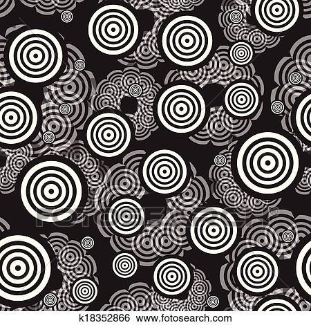 clip art kreis schwarz wei monochrom muster k18352866 suche clipart poster. Black Bedroom Furniture Sets. Home Design Ideas