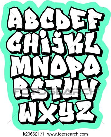 cartoon comic doodle font alphabet vector - Dessin Graffiti