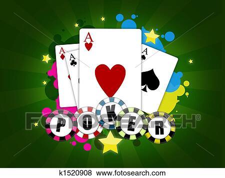 失量图库 - 扑克牌, 游戏
