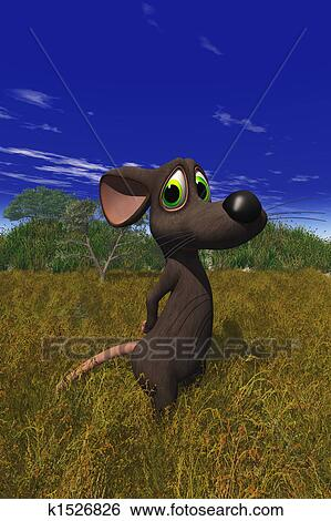 Stock illustration of cartoon mouse k1526826 search clip for Field mouse cartoon