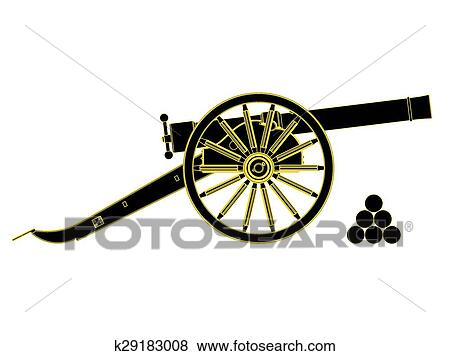 clip art of cannon 18 th century vector k29183008 search clipart rh fotosearch com cannon clipart black and white canon clipart logo