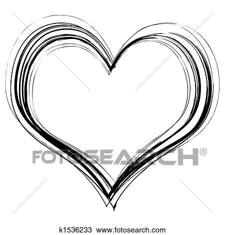 zeichnung kritzeln herz k1536233 suche clipart. Black Bedroom Furniture Sets. Home Design Ideas
