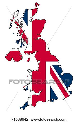 Clip Art of UK map k1538642 - Search Clipart, Illustration Posters ...