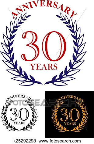 clip art of 30 years anniversary heraldic laurel wreath k25292298 rh fotosearch com heraldic clipart heraldic clipart