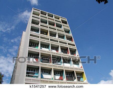 picture of maison le corbusier unit d 39 habitation. Black Bedroom Furniture Sets. Home Design Ideas