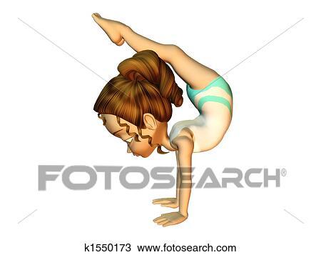 disegno ragazza fare ginnastica k1550173 cerca