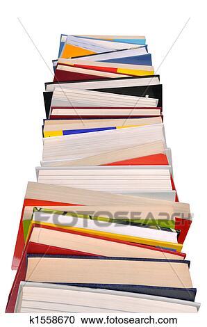 Bücherstapel clipart  Stock Fotografie - buecher, stapel k1558670 - Suche ...