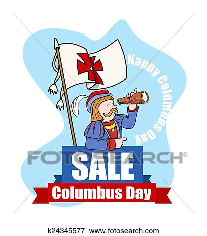 clip art of columbus day sale vector graphic k24345577 search rh fotosearch com columbus ship clipart clipart columbus day