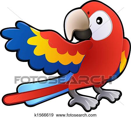 clip art of cute friendly macaw parrot illustration k1566619 rh fotosearch com macaw clipart free macaw clip art free