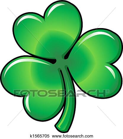 clipart of illustration of shamrock clover k1565705 search clip rh fotosearch com clip art shamrock clipart shamrock symbol