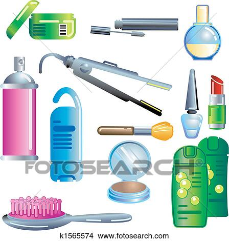 Clipart of Beauty and Cosmetics Products k1565574 - Search Clip ...