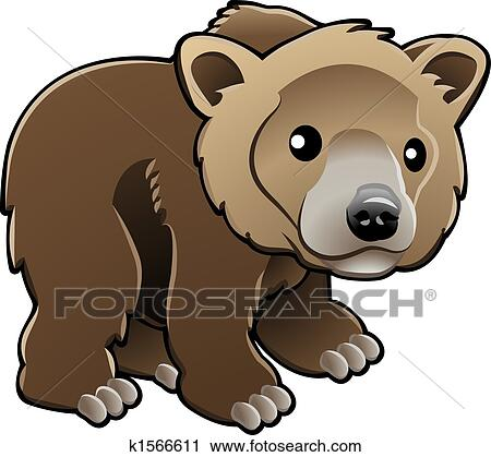 Cute grizzly bear clipart - photo#12