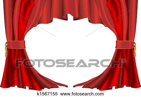 Stuhlreihe clipart  Clipart - rot, stuhlreihen, vorhänge k1567155 - Suche Clip Art ...