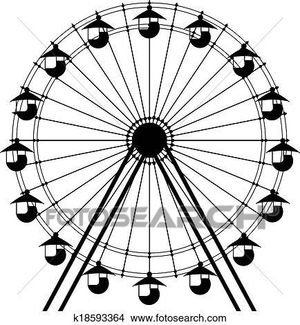 Simple ferris wheel vector