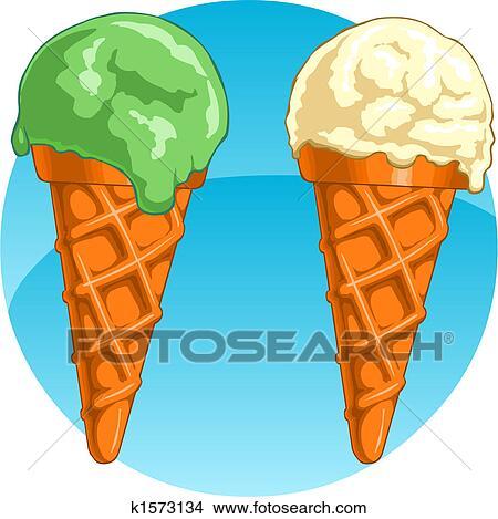 手绘图 - 冰淇淋
