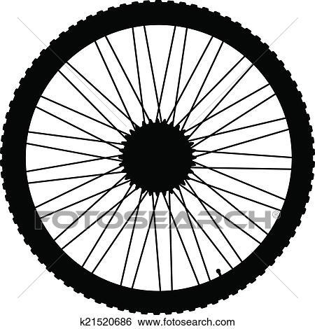 自行车轮胎矢量